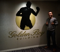 Visit to Golden Boy Promotions Building