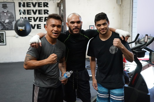 Sparring with Sugar Ray Beltran!